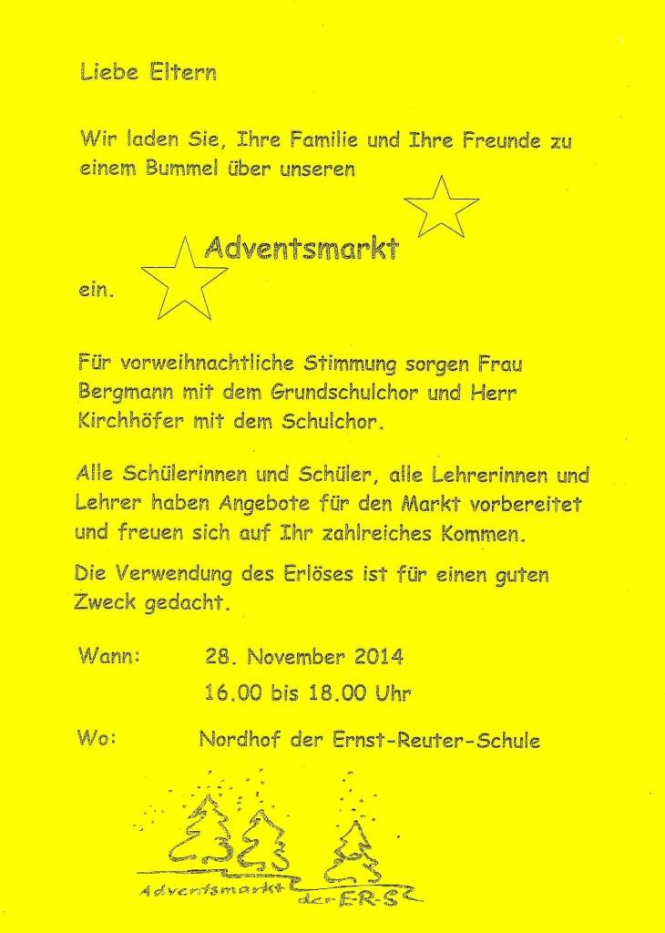 flyer adventsmarkt 2014