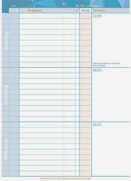 Schulplaner Schuljahr 2014/2015 (Kalendarium mit EIntragmöglichkeit)